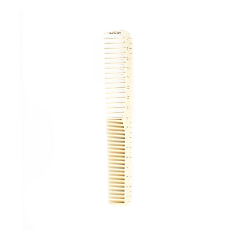 Белая расчёска G50 с редкими и плотными зубцами