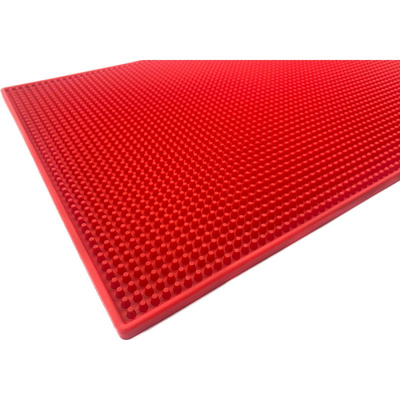 Резиновый коврик для инструментов барбера 45х30 красный