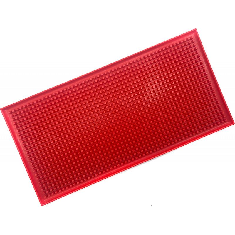 Резиновый коврик для инструментов барбера 30х15 красный