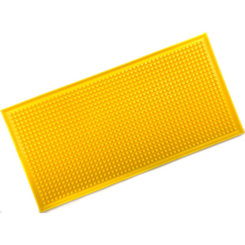 Резиновый коврик для инструментов барбера 30х15 желтый