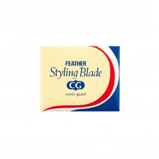 Лезвия Feather Styling Blade CG (10 шт) к бритве для филировки волос