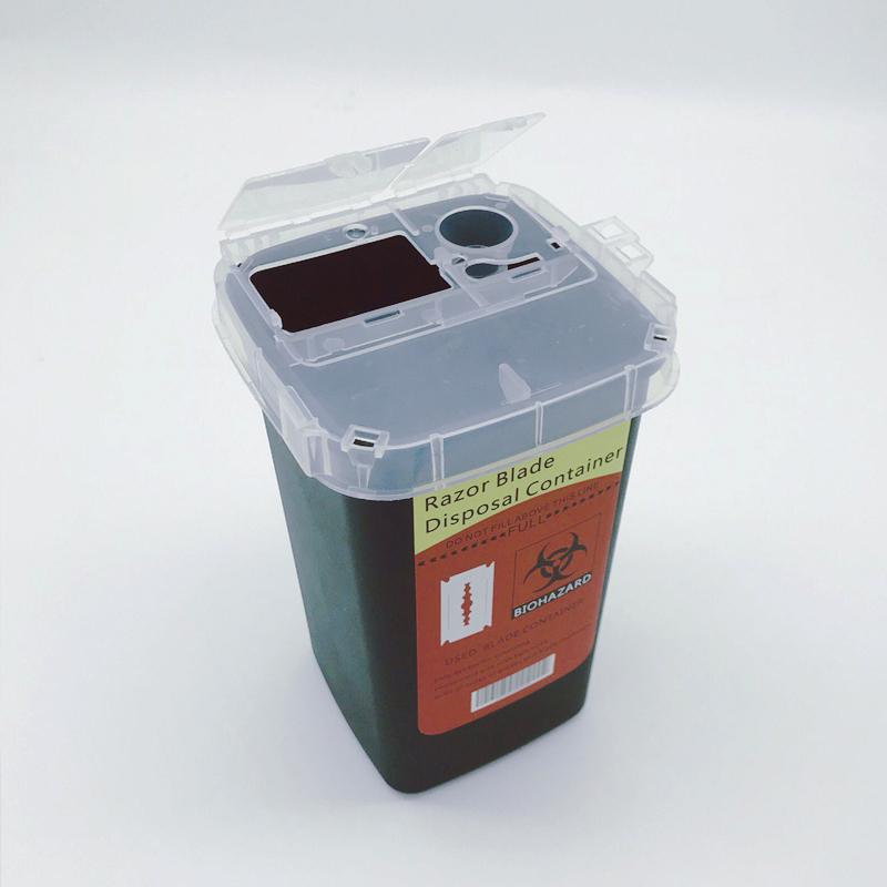 Контейнер для утилизации использованных лезвий, черный