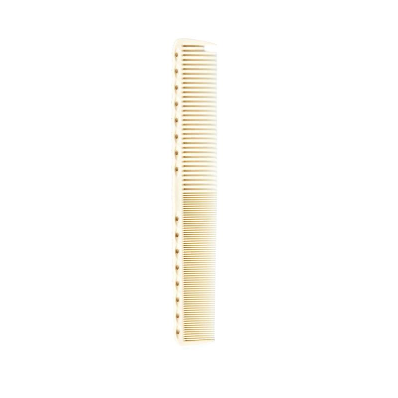 Белая расчёска G36 с редкими и частыми зубчиками