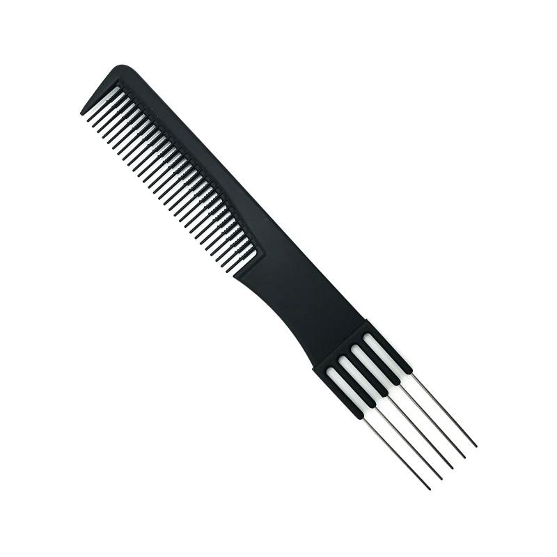 Черная расческа со шпилями для укладки волос