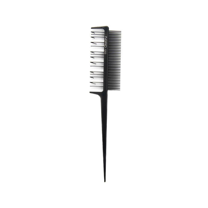 Черная расческа Ingrid 1202 для мелирования волос