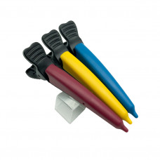 Цветные парикмахерские зажимы волос Dolphin Clip 3 шт