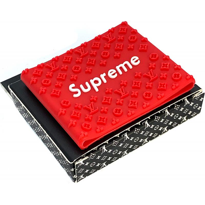 Красная резиновая накладка Supreme на машинку для стрижки