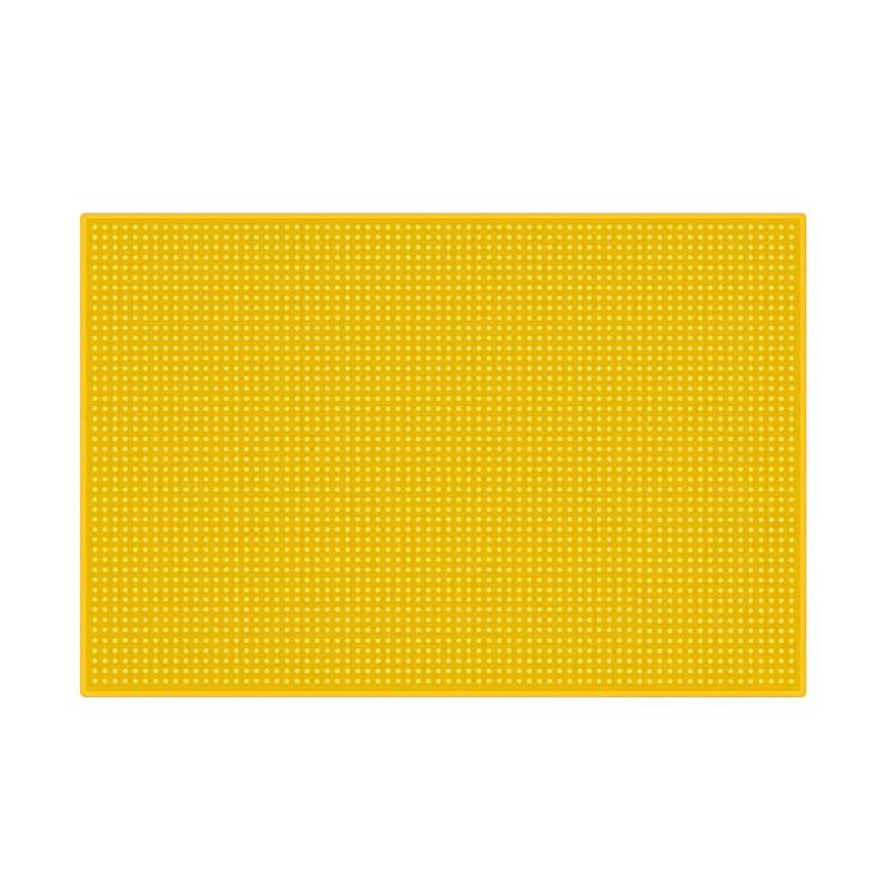 Резиновый коврик для инструментов барбера 45х30  желтый