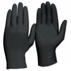 Перчатки одноразовые виниловые черные S 10 шт
