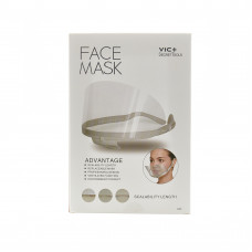Прозрачная маска Face Mask Vic+ (ZP) для лица